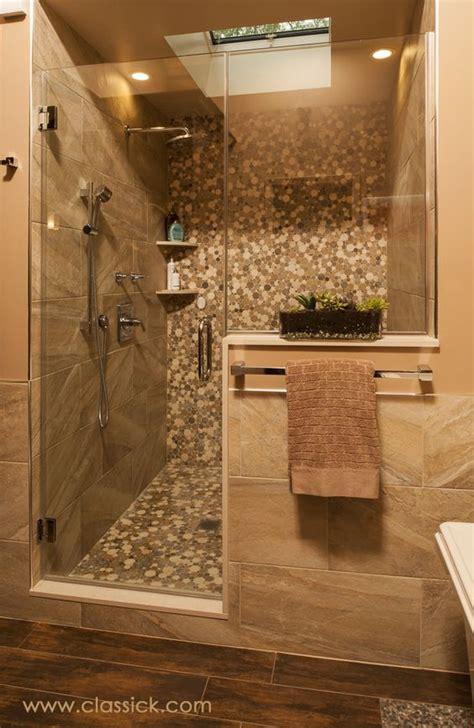 shower wall tile  earth tone porcelain  built