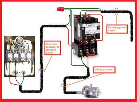 Single Phase Motor Contactor Wiring Diagram Elec Eng World