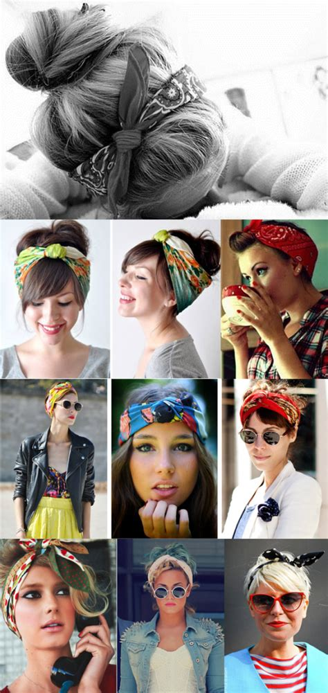 bandana binden kurze haare haarband frisurideen frisuren mit bandana frisur hochgesteckt und frisuren