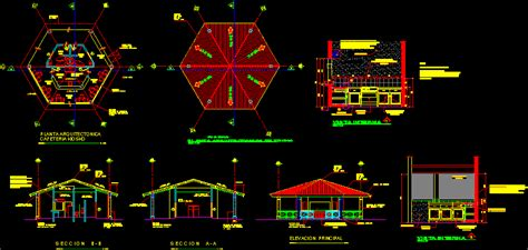 cafeteria dwg design elevation autocad designs cad