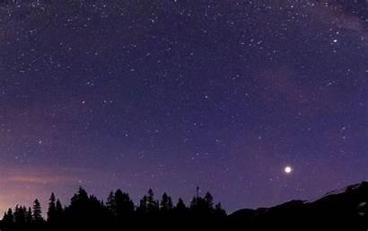 Sky Stars Night Moon Sleep Scenery Wallpapers