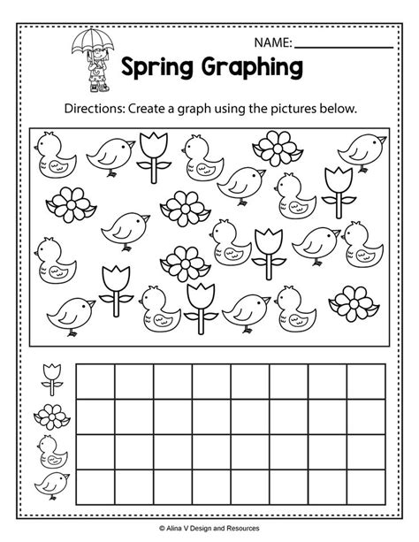 spring activities for kindergarten spring math worksheets