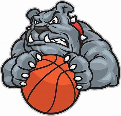 Bulldog Mascot Basketball Vector Clip Illustrations Illustration