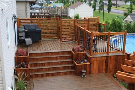 custom trex decks patios contemporary porch montreal