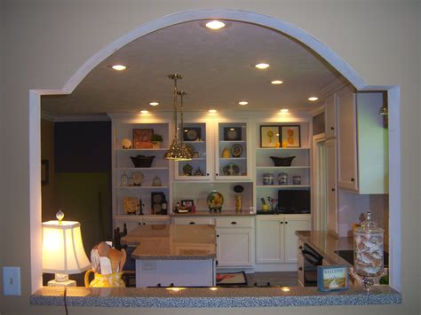 kitchen room ideas unique wall cut out to open kitchen into dinning room