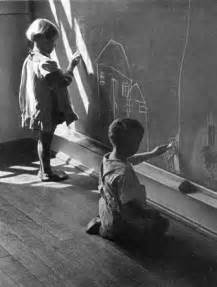 Vintage Black and White Photography Child