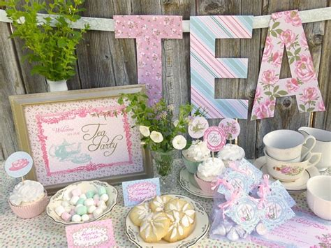 Shabby Chic Kitchen Decorating Ideas - tea party baby shower ideas baby ideas