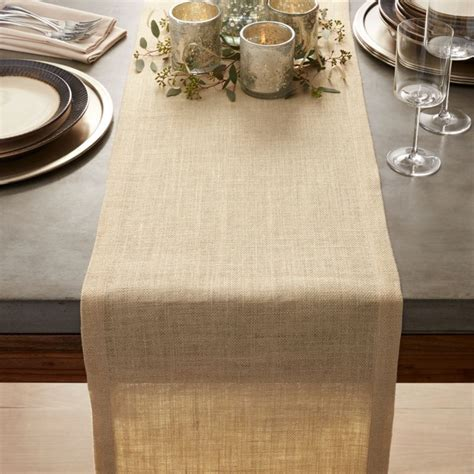 gold jute table runner  crate  barrel