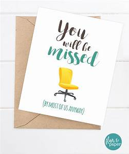 Coworker Card, Funny Miss you card, Retirement, New Job ...