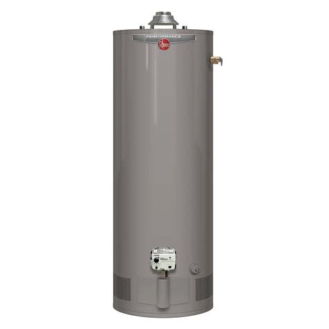 55 gallon gas water heater rheem performance 55 gal 6 year 50 000 btu 7364