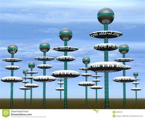 Wohnen Der Zukunft 3d Das Haus Im Computer by Stadt Der Zukunft Lizenzfreie Stockbilder Bild 2289799