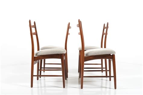 mid century dining chairs in teak room of