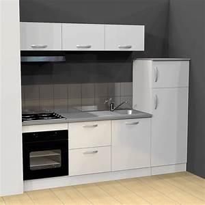 Cuisine equipee avec electromenager pas cher wasuk for Petite cuisine équipée avec meuble de salle à manger pas cher