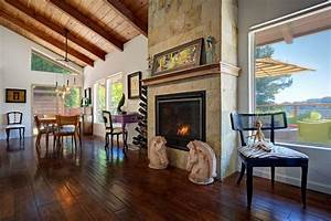 Rustic wood fireplace surrounds dining room rustic with