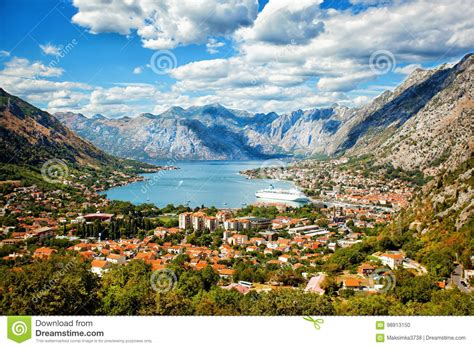 Kotor In A Beautiful Summer Day Montenegro Stock Photo