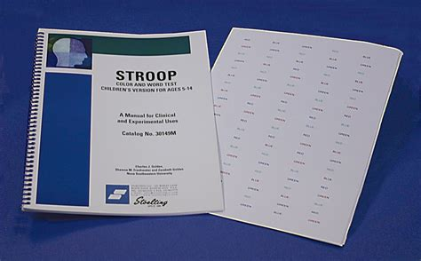 stroop color word test neuroscience physiology research equipment psychological