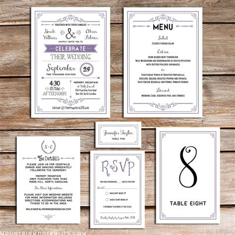 free printable wedding program mountainmodernlife com