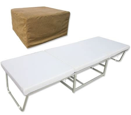 ottoman converts to a guest bed 2 in 1 folding ottoman sofa guest bed with slip cover