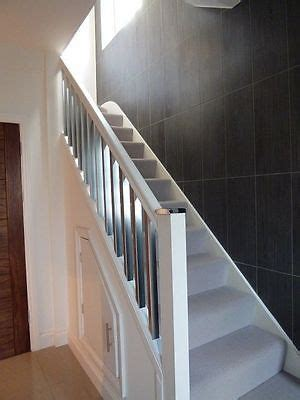 Chrome Banisters by Scala Brushed Chrome White Painted Staircase