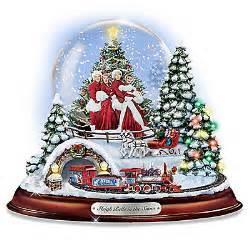 my christmas store thomas kinkade white christmas musical collectible snow globe