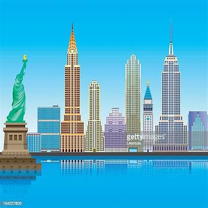 York Vector Building State Empire Chrysler Illustrations