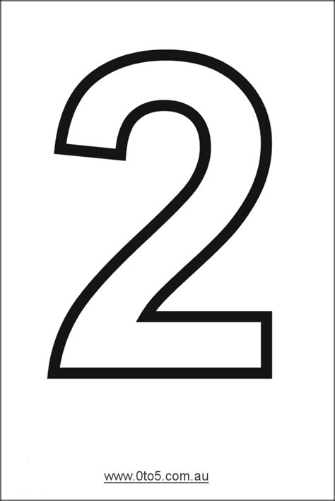 6 Best Images Of Printable Number Two