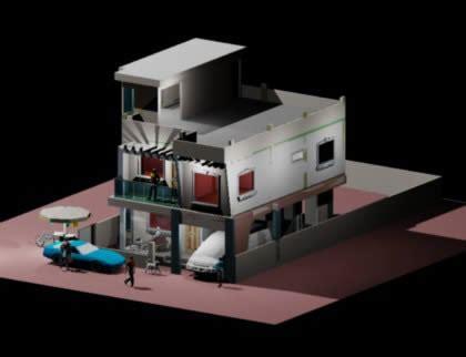 residential model  dwg model  autocad designs cad