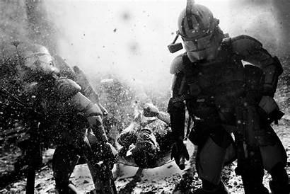 Wars Star Galactic Warfighters Stormtrooper Battle Scenes