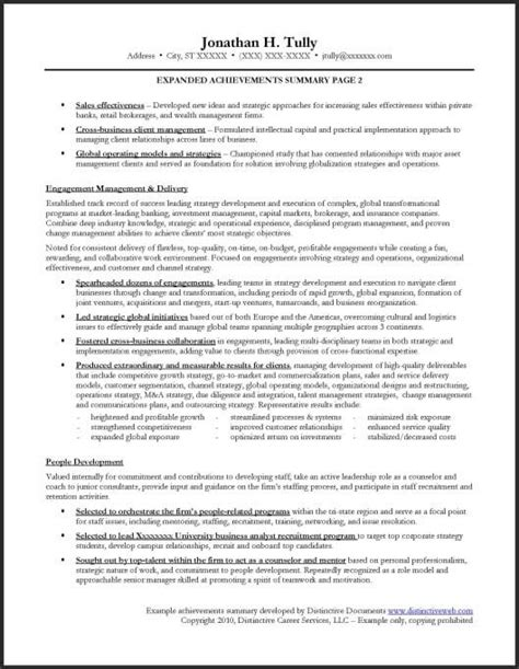 list of personal achievements resume sle expanded achievements summary