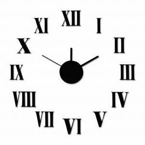 Chiffre Romain De 1 A 50 : horloge murale chiffres romains do it yourself a monter soi meme noir en plastique m tal et ~ Melissatoandfro.com Idées de Décoration