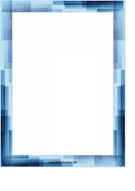 blue stripes page border templates printable
