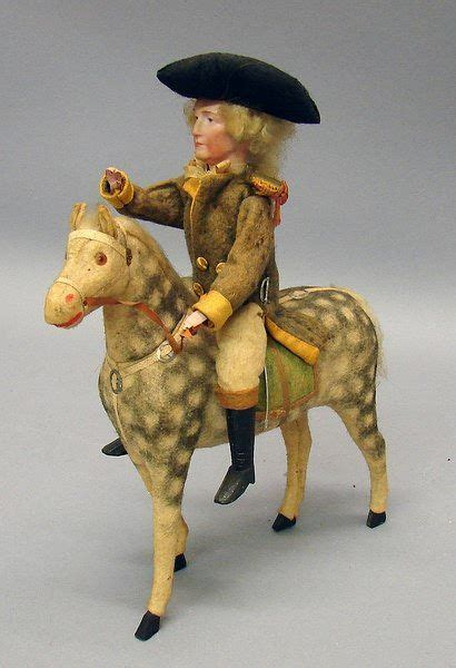 george washington sitting  horse candy container
