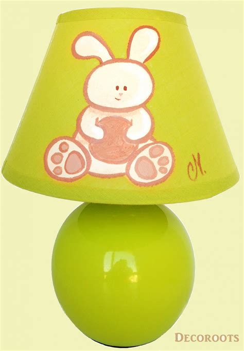 abat jour chambre bébé garçon le bébé lapin beige et vert décoration chambre