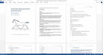 Srs Software Requirement Specification Template by Software Requirements Specification Ms Word Template