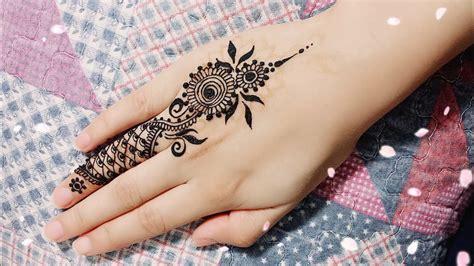 Diy Easy Mehendi Design For Fingers Tutorial #8- Henna