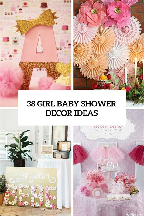 baby girl shower centerpieces 38 adorable girl baby shower decor ideas you ll like