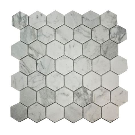 hexagon marble effect mosaic tiles from b q marble