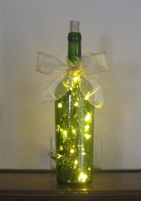 bing wine bottle crafts with lights craft ideas