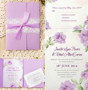 how to assemble your wedding invitations with pockets With lavender colour wedding invitations