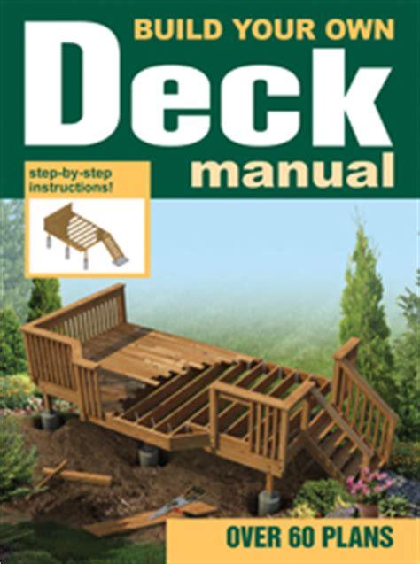 build   deck manual house plans
