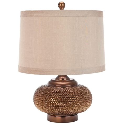 Safavieh Lighting by Safavieh 19 In Gold Bead Table L With Taupe
