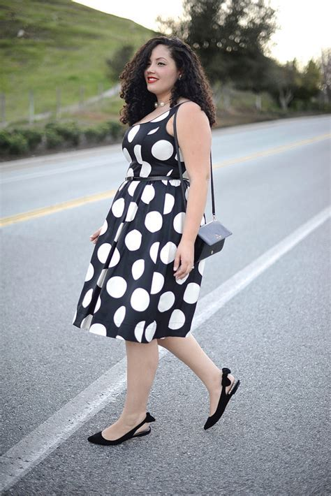 Shoes: girl with curves, blogger, polka dots, retro, curvy