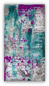Abstract painting large wall art canvas purple plum