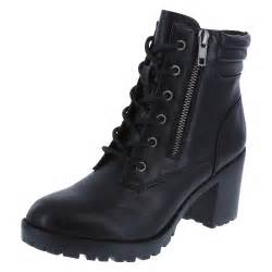 womens boots payless shoes womens punch lug heel lace up boot brash payless shoes