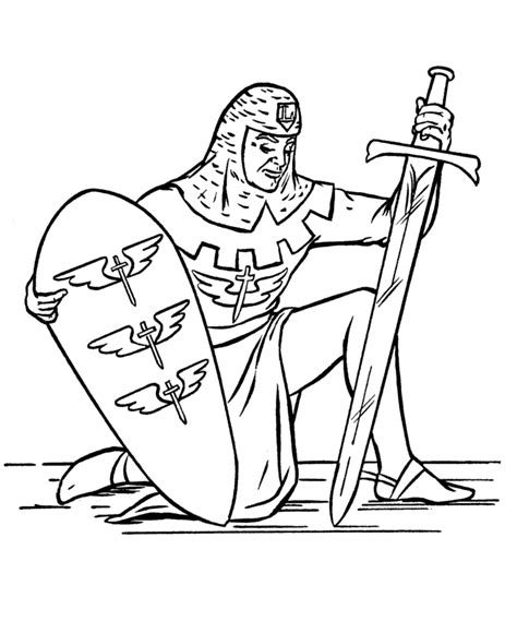 medieval knights coloring page amtgard embroidery