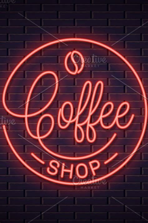 ✓ free for commercial use ✓ high quality images. Coffee neon logo. Coffee shop neon | Neon logo, Coffee shop, Logo design inspiration