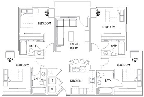 floor plans  centre  turner student housing