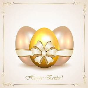 Coer Page Golden Egg With Easter Card Vector Free Download