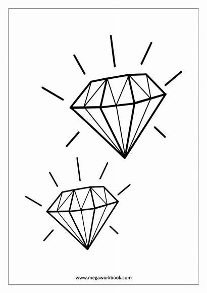 Coloring Miscellaneous Diamond Sheet Sheets Pages Megaworkbook