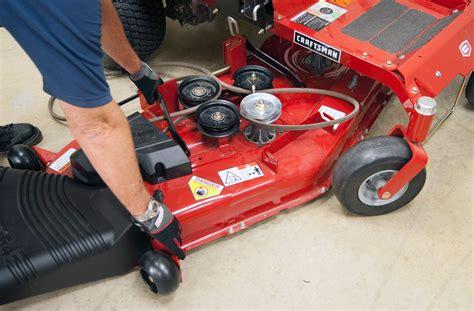 remove  mower deck    turn riding mower